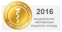 Online-Siegel von Leading-Medicine-Guide.com: Ausgewiesener internationaler Experte für Urologie