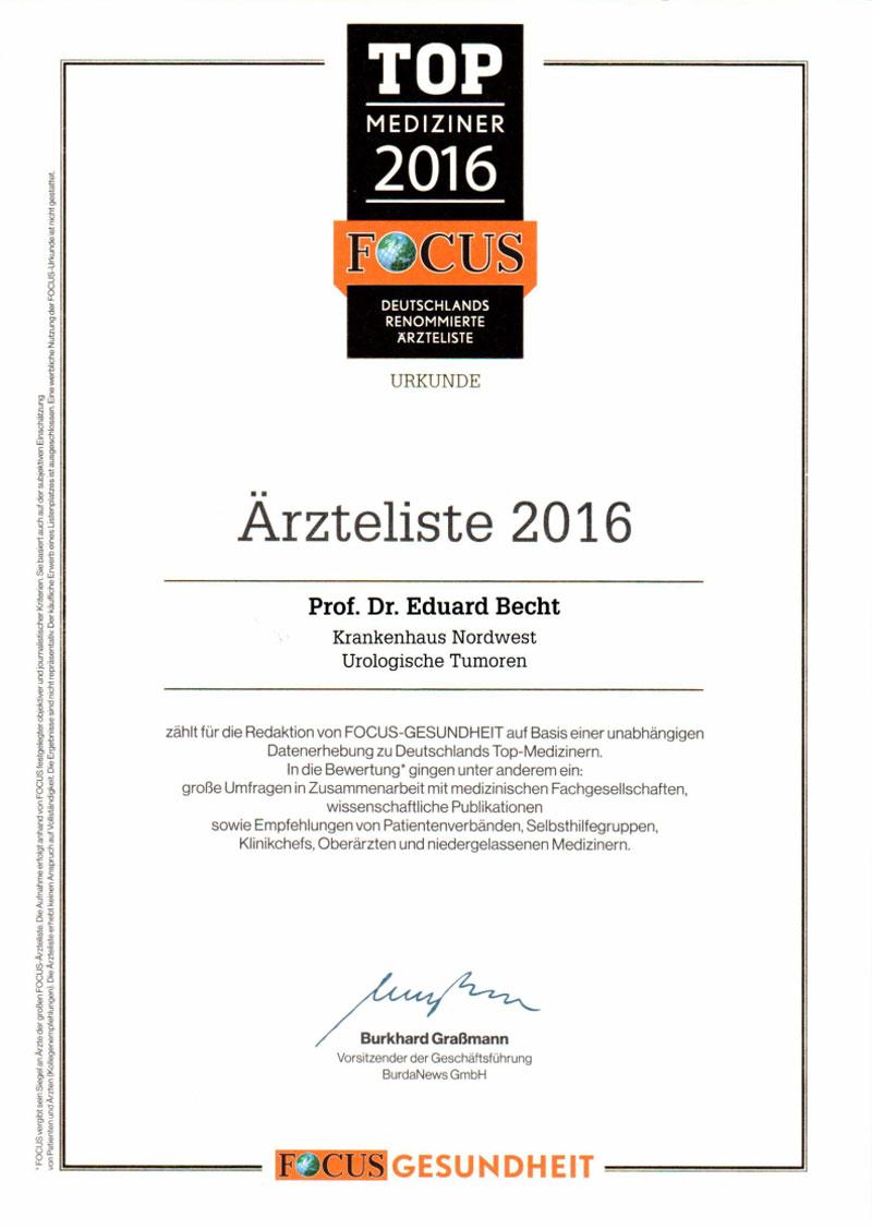 Ärzteliste 2016 Focus